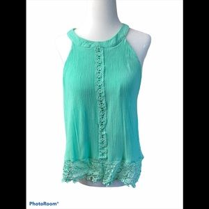 3/&30 Charlotte Russe turquoise green tank top